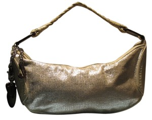 Juicy Couture Constructed Of Paper Linen Cowhide Leather Hobo Bag