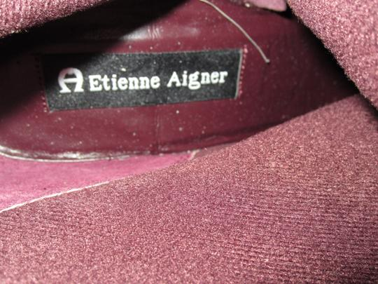 Etienne Aigner Interior Tear Where Tag Was Attached Otherwise Like New Burgundy Boots