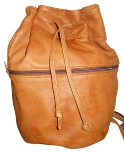 Deerskin by Heacock Leather Drawstring Backpack