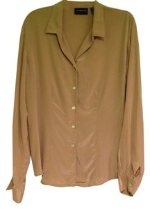Liz Claiborne Silk Top tan