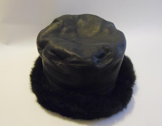 Wilsons Leather Wilsons Leather Hat with Real Rabbit Fur Trim Size L/XL