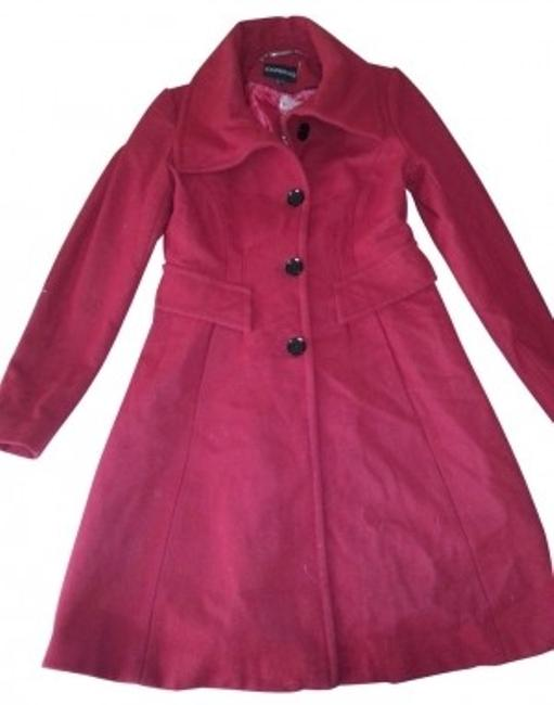 Preload https://item3.tradesy.com/images/express-red-pea-coat-size-8-m-5702-0-0.jpg?width=400&height=650