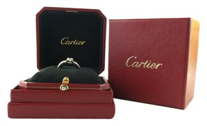 Cartier Cartier 750 18K White Gold 0.50 ct Solitaire Diamond Ring Size 51 EU (5-3/4 US)