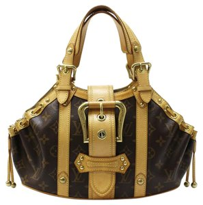 Louis Vuitton Theda Gm Satchel in Brown / Free Same Day Shipping