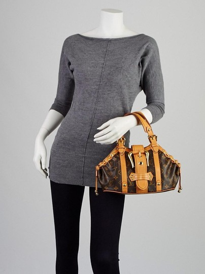 Louis Vuitton Theda Theda Satchel in Brown / Free Same Day Shipping /LV Dust Cover/