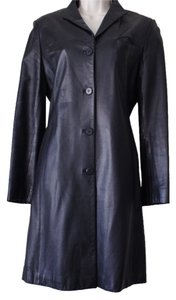 SUZAN LAZAR Leather Trench Coat