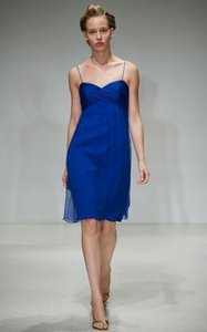 Amsale French Blue Amsale Empire Waist Dress - French Blue Dress