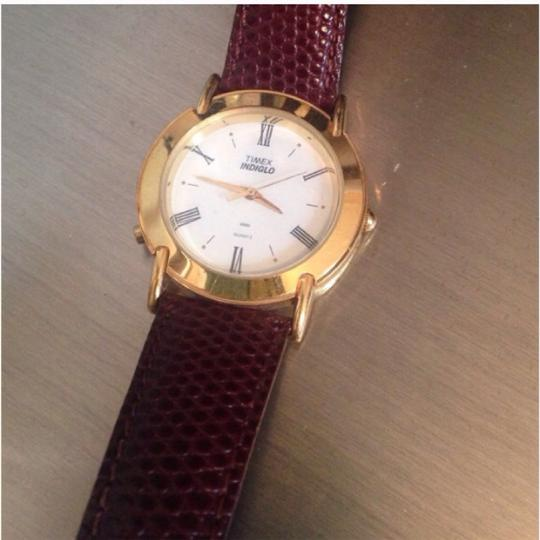 Timex Vintage Timex Indiglo Watch with Brown Leather Strap
