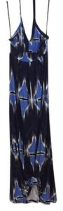 White/blue/black Maxi Dress by Banana Republic