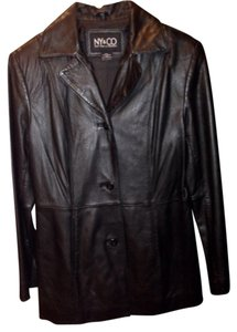 New York & Company Blac Leather Jacket