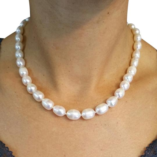 Adelaide Maria Pearl Chocker Necklace White with 18k solid Yellow gold locker, 16in