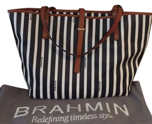 Brahmin Tote in Black & white