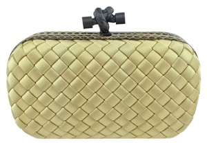 Bottega Veneta Woven Pale Yellow Clutch