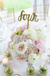 BHLDN Gold Script Table Numbers #1-20 Centerpiece