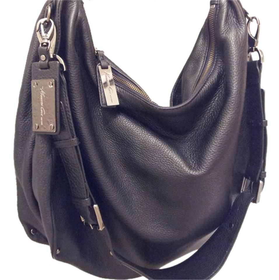 40b8a03a95 Kenneth Cole New York No Slouch Pebble Black Leather Hobo Bag - Tradesy
