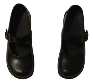 Sanita Mary Jane Like New Leather Black Mules
