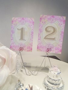 Elegant Floral Pink And Gold Table Numbers
