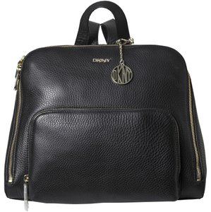 DKNY Leather Zip Luxury Backpack