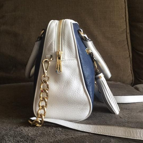Michael Kors Satchel in Navy Blue And White