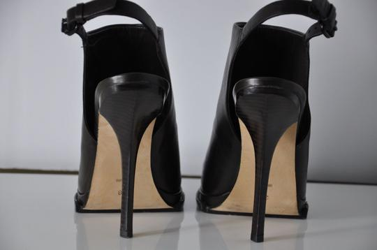 Alexander Wang Leather Slingbacks Booties Heels Brown Pumps