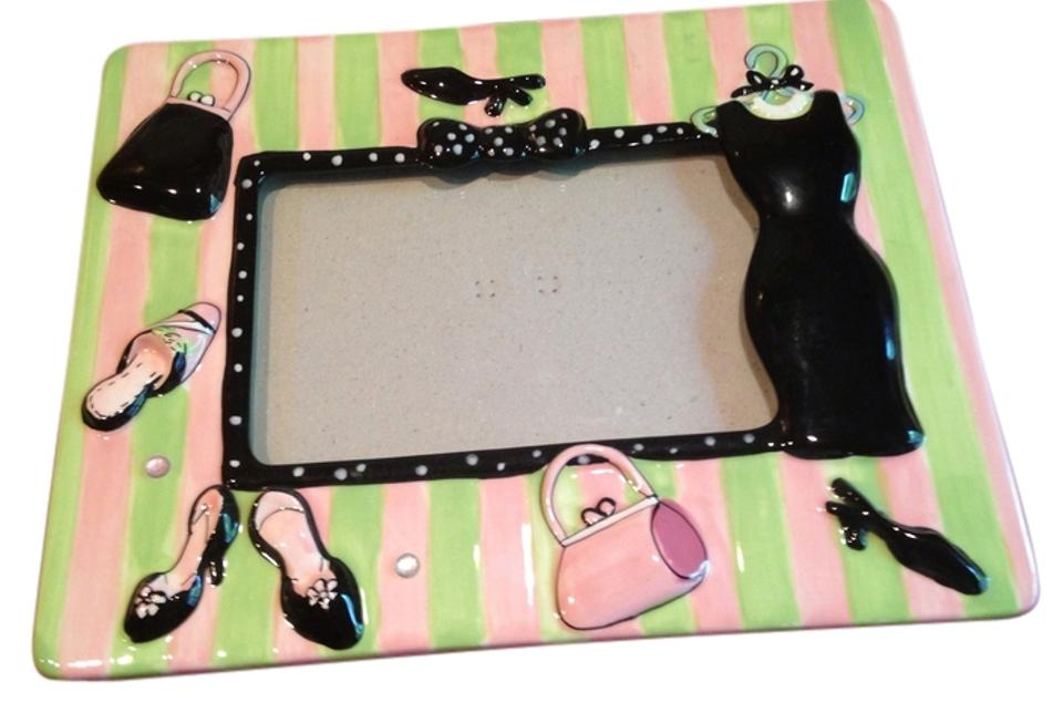 Pink Green Black Two Picture Frames - Tradesy