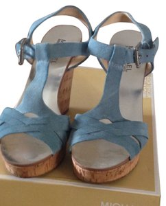 Michael Kors Light blue Suede with Cork Wedge Wedges