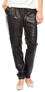 Patrizia Pepe Eco Leather Trouser Pants Black
