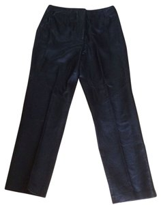 Yvonne Marie leather Straight Pants Black