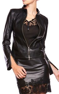 Patriza Pepe Nappa Leather Motorcycle Jacket