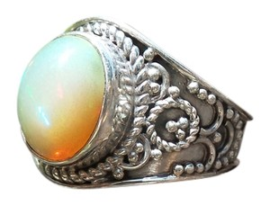 Other 925 Sterling Silver Ethiopian Opal Ring Size 9