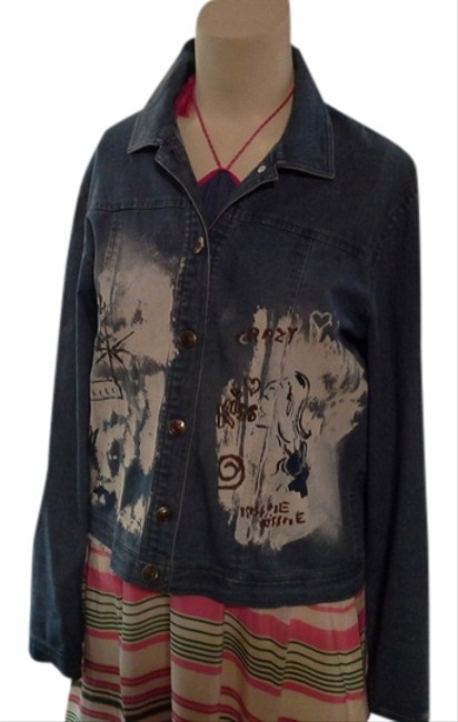 Preload https://item3.tradesy.com/images/cest-duo-kids-european-fun-funky-blue-jean-and-white-jacket-5711242-0-0.jpg?width=400&height=650