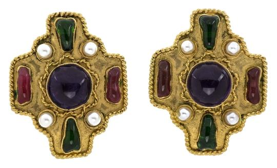 Preload https://item1.tradesy.com/images/chanel-chanel-vintage-gold-gripoix-multi-colored-earrings-5711635-0-0.jpg?width=440&height=440