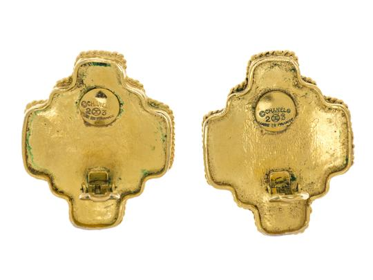 Chanel Chanel Vintage Gold Gripoix Multi-Colored Earrings