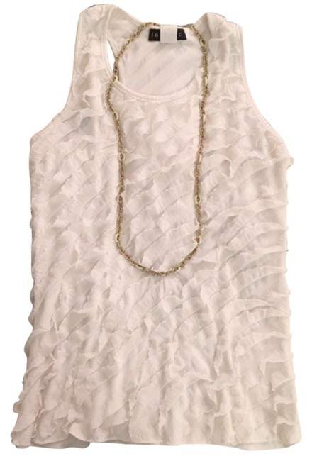 Preload https://item2.tradesy.com/images/white-ruffle-blouse-size-8-m-5713771-0-2.jpg?width=400&height=650