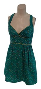 Flying Tomato short dress Green and Multi Summer Tie Back on Tradesy