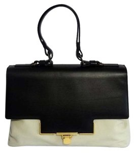 Lanvin Miss Sartorial Satchel in black and beige