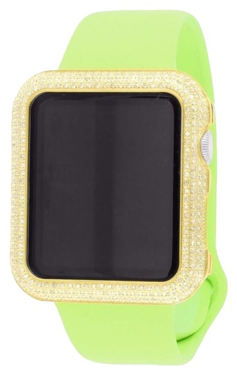 Preload https://item5.tradesy.com/images/apple-14k-gold-tone-lime-green-diamond-bezel-silicone-rubber-strap-42-mm-watch-5715124-0-2.jpg?width=440&height=440