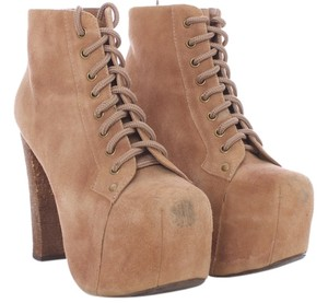Jeffrey Campbell Suede Leather Lita TAN Boots