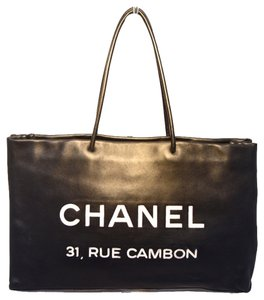 Chanel Shopping Rue Cambon Tote in Black