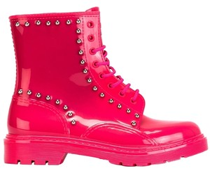 RED Valentino Studded Chic Neon Pink/ Hot Pink Boots