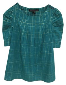 Marc by Marc Jacobs Top Teal and Gold