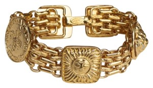 Chanel CHANEL GOLD PLATED STAMPED '05A CHARM BRACELET