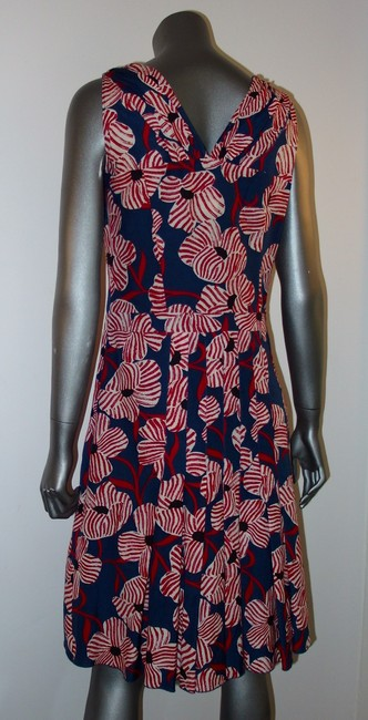 Moschino short dress Red White Blue Silk V-neck Limited Edition Italian Italy on Tradesy