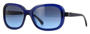 Chanel Chanel Sunglasses 5280 Q Ribbon Bow Blue Patent Leather CC Logo Oversized Square Classic Timeless 2015 New Model