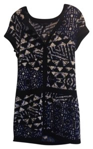 BCBGMAXAZRIA short dress Black, blue, and white on Tradesy