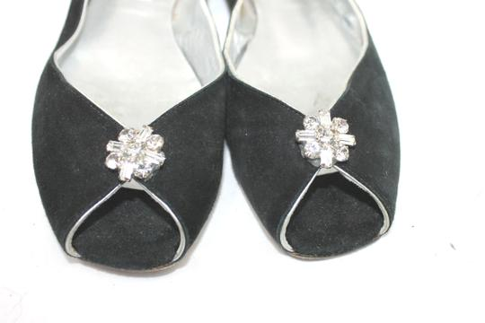 LOLA GUINESS Suede BLACK Flats