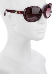 Chanel Chanel 5138 PURPLE Eggplant Alphabet Letters Rainbow Oversized Square CC Logo Sunglasses Classic Timeless