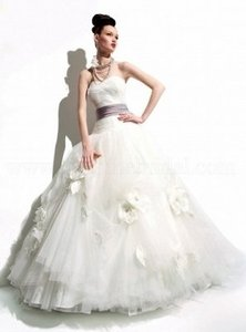 Jasmine Couture Bridal Ivory Tulle Style Id T395 Formal Wedding Dress Size 6 (S)
