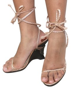 Jimmy Choo Metallic CHAMPAGNE Sandals