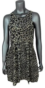 Ebony Eve short dress Leopard Sleeveless Hippie Mini Animal Print Silk on Tradesy